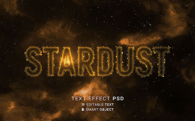 Text effect with particles design