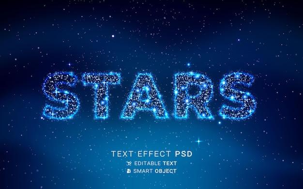 Effetto testo con design a particelle