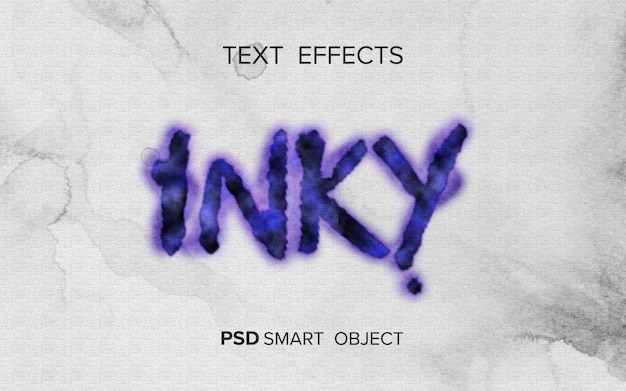Text effect writing ink style
