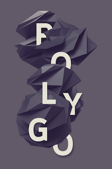 Текстовые буквы в полигональном шаблоне 1