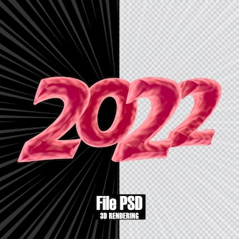 텍스트 번호 2022 3d 렌더링