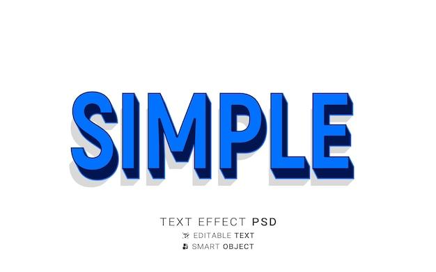 Текстовый простой эффект дизайна