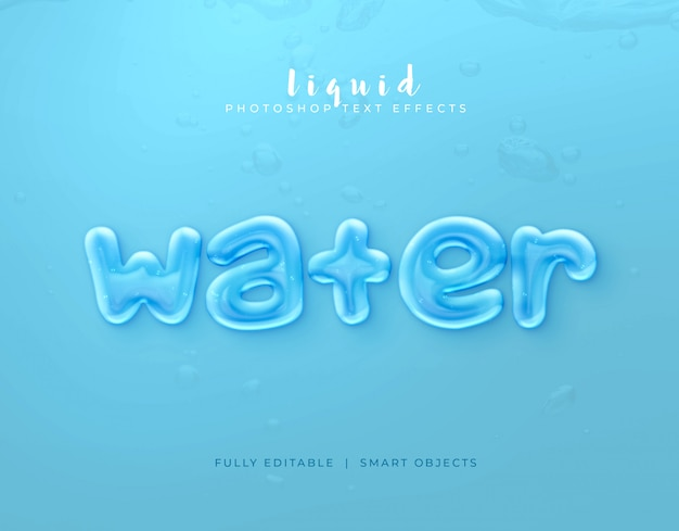 Text style effect water