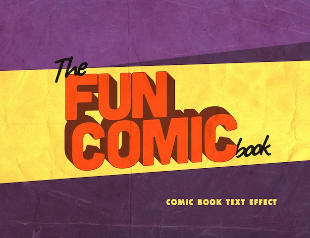 Text style with vintage comic book effect