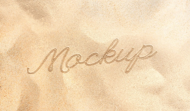 Текст писать на макете песчаного пляжа