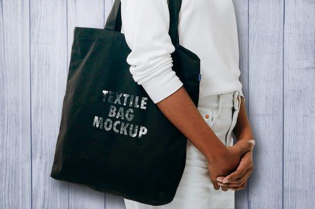 Textile bag mockup