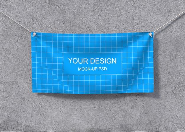 Textile banner mockup