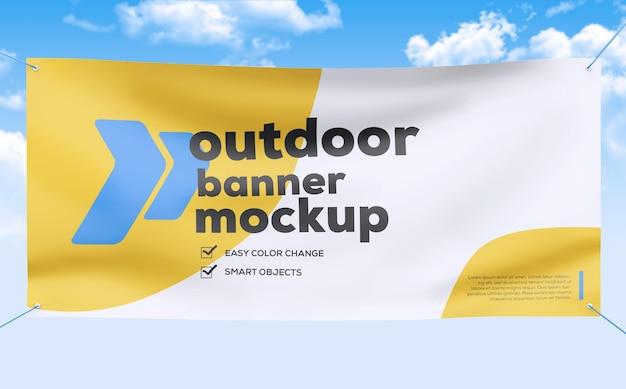 Textile fabric banner mockup