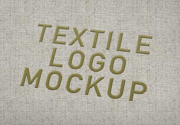 Textile logo mockup