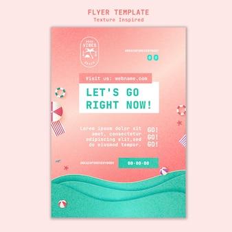 Textured beach flyer template