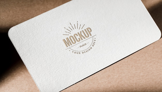 Textured business card paper mock-up