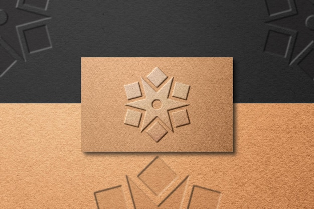Textured business card paper mockup design