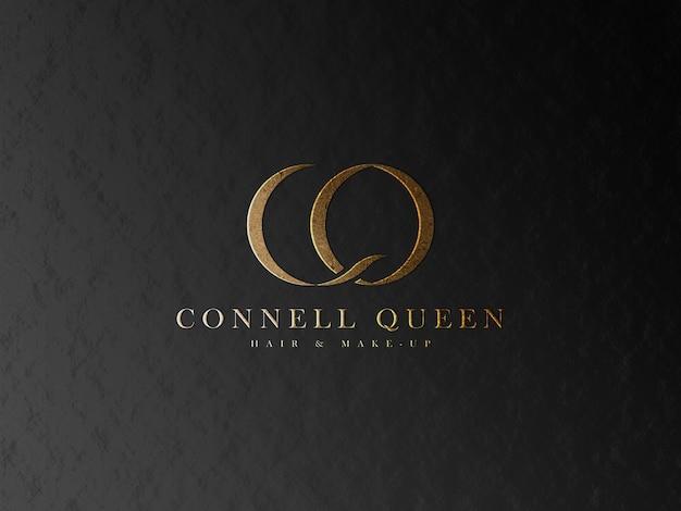 Textured gold logo mockup