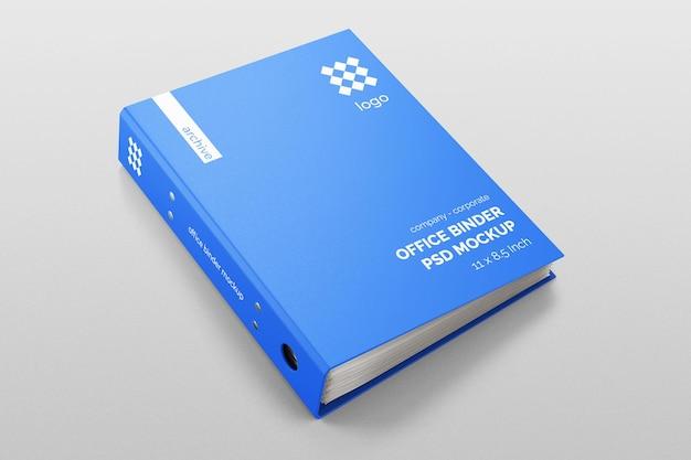 Textured hardcover corporate office binder file folder realistic psd