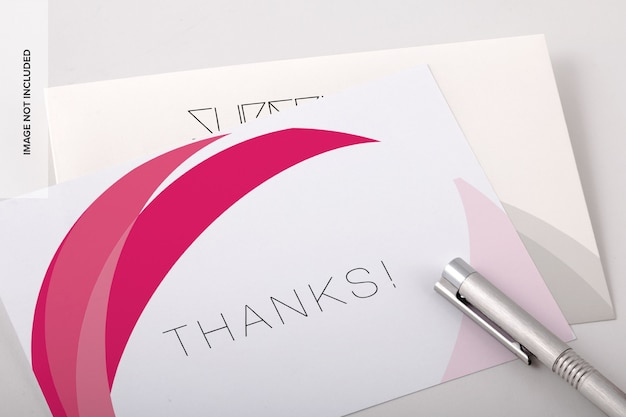 Thank you card psd mockup