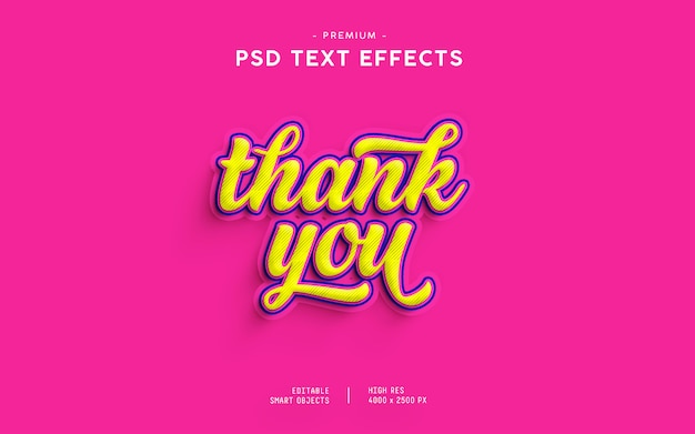 Thank you text effect