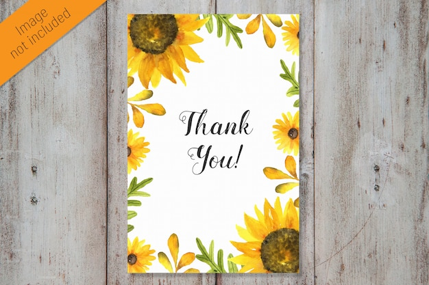 Thank you watercolor card template