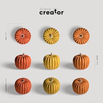 Thanksgiving arrangement with pumpkins