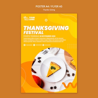 Thanksgiving concept flyer template