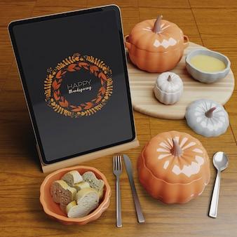 Thanksgiving day restaurant arrangeemnt