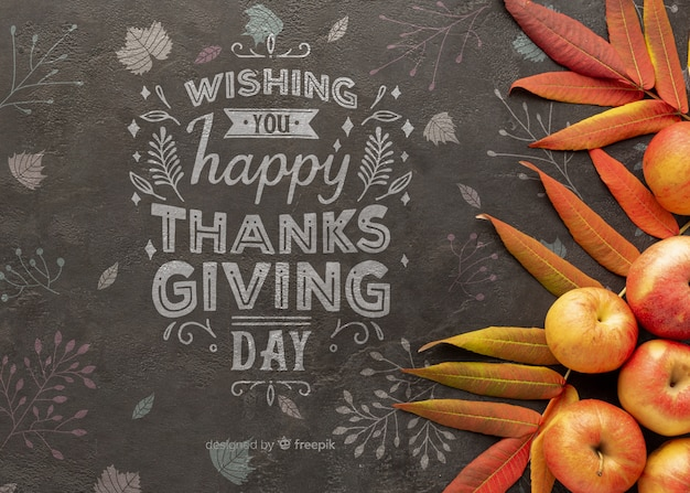 Thanksgiving day with positive message