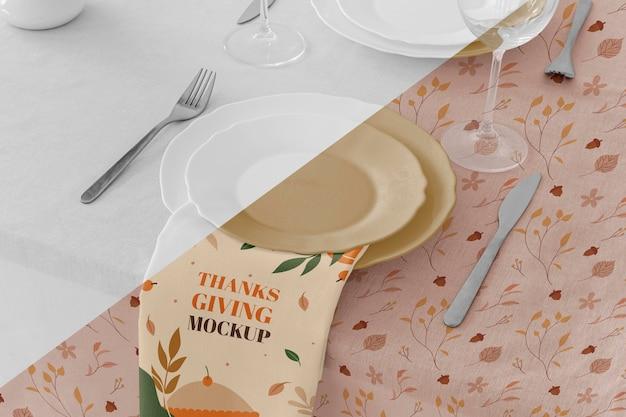 추수 감사절 식탁 배치