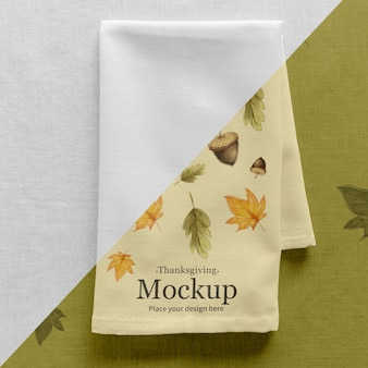 Thanksgiving dinner table napkin