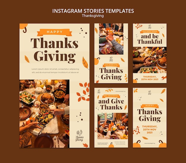 Thanksgiving ig stories with autumn details