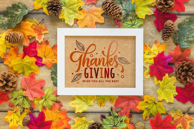 Thanksgiving mockup with frame