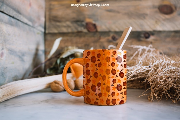 Thanksgiving mockup with mug