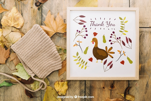 Thanksgiving mockup