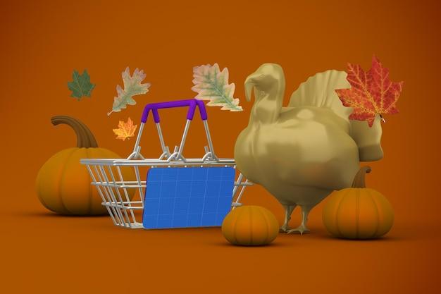 Thanksgiving shopping mockup
