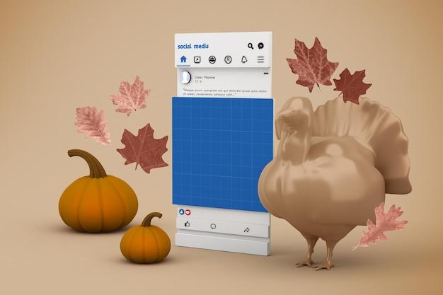 Thanksgiving social media mockup