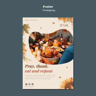 Thanksgiving vertical print template