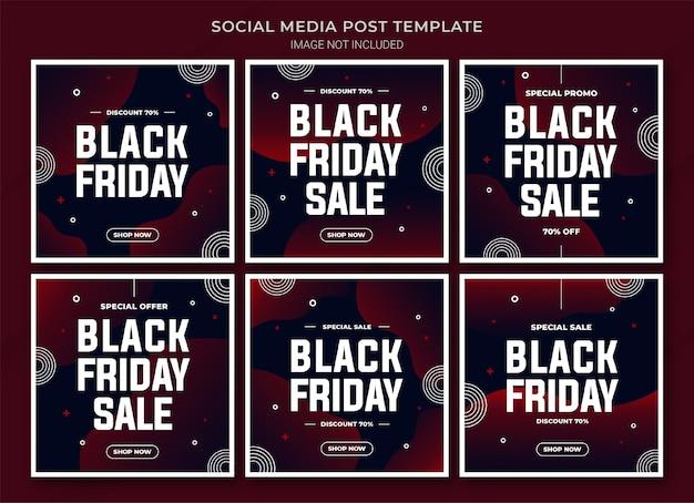 Шаблон поста в instagram для кампании черная пятница