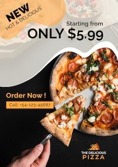 Вкусная пицца новое предложение Бесплатные Psd
