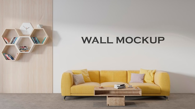 리셉션 공간에는 간단한 벽 모형이 있습니다.