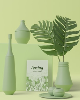 Thematic spring decorations in 3d
