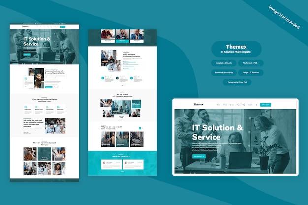 Themex-itソリューションwebテンプレート