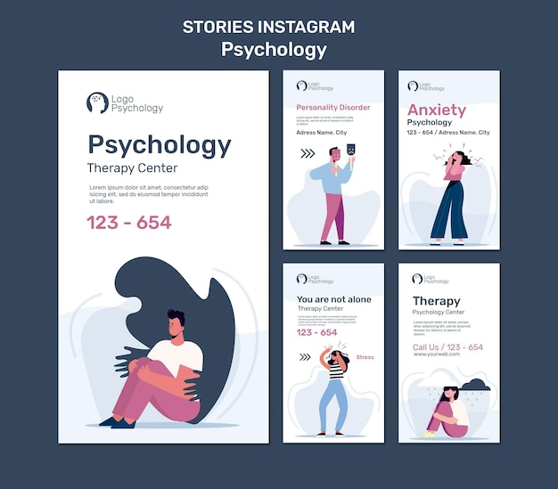 Therapy center instagram stories template