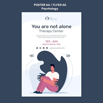 Therapy center poster template