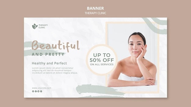 Therapy clinic banner template