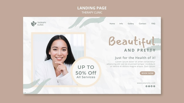 Therapy clinic landing page web template