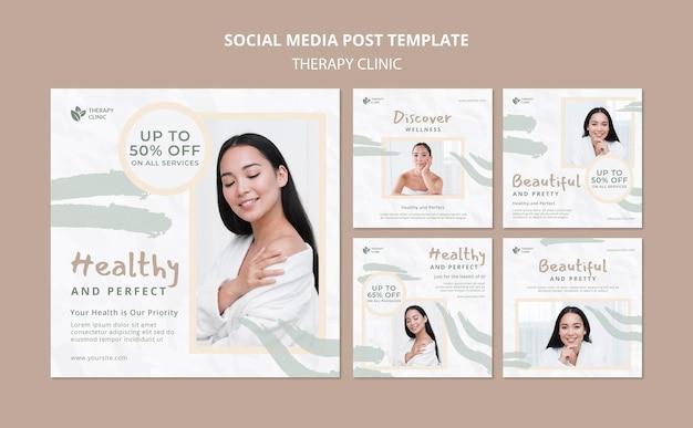 치료 클리닉 소셜 미디어 게시물