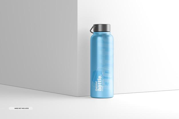 Mockup di bottiglia d'acqua termale