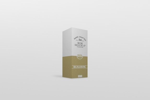 Thin box packaging mockup