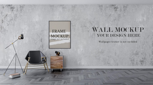 薄いフレームと壁のテンプレート