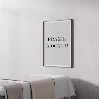 Thin poster and picture frame mockup