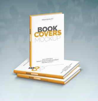 Three book covers mockup