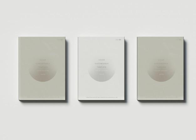 3冊の本のモックアップ